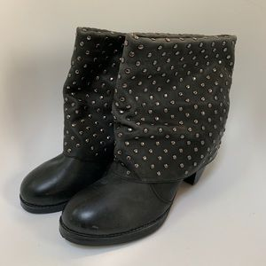 Women's 80%20 brand studded leather booties